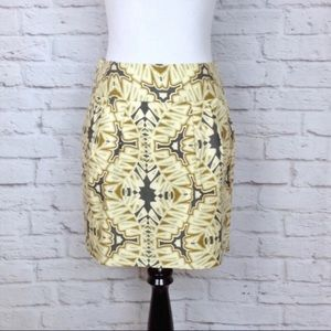 Banana Republic pocketed pleated lined skirt